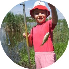вместе с папой на рыбалку