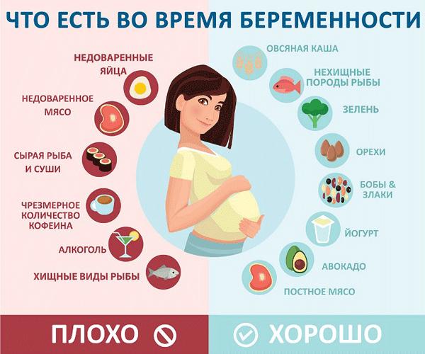 питание беременной в первом триместре